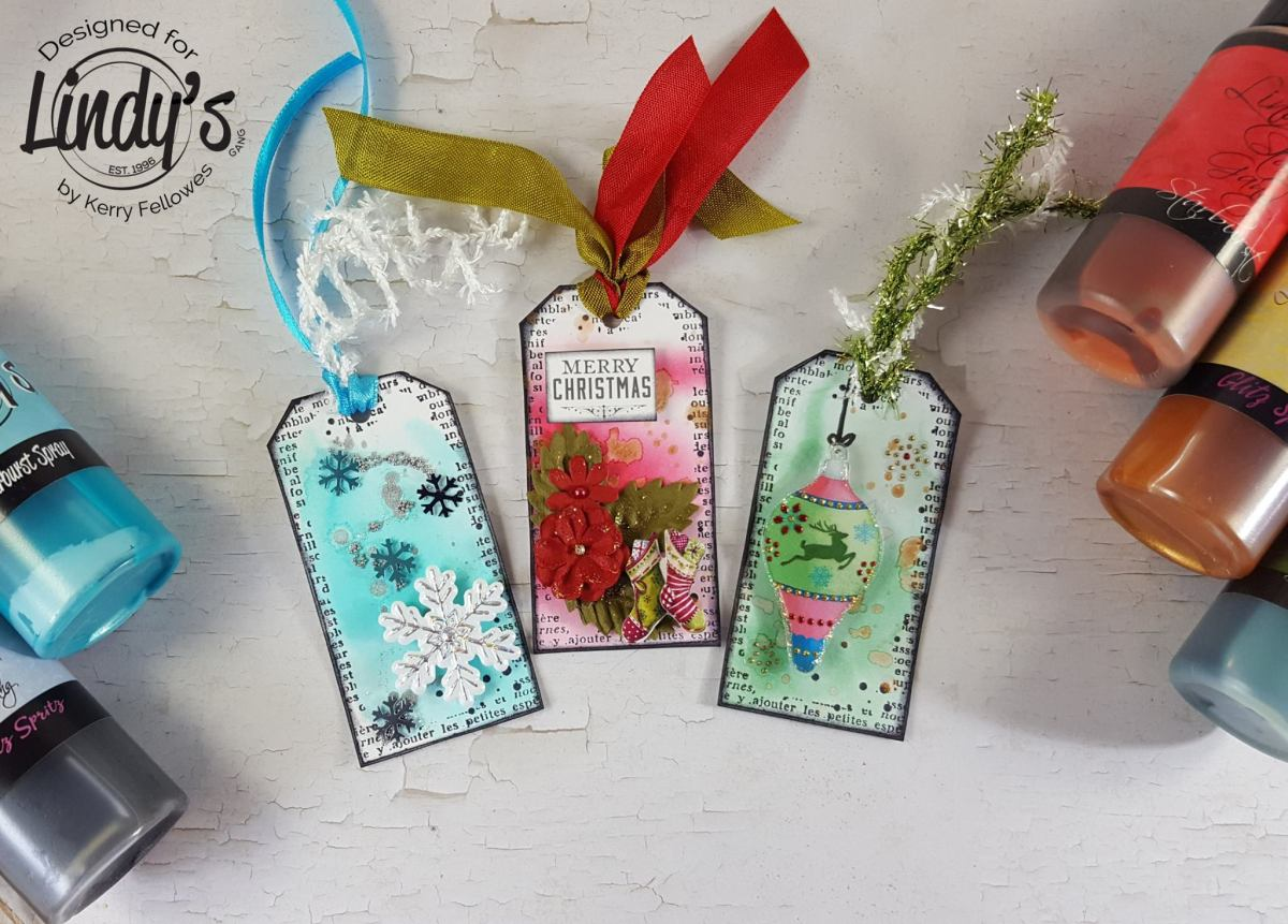 Day 2: Festive Tag Trio with Kerry Fellowes